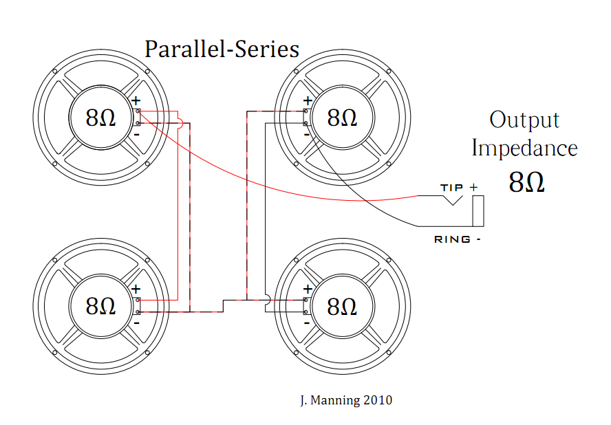 wiring your speaker cabinet mojo shout note the series parallel and parallel series configurations function the same electrically the s for each are interchangeable which is apparent when