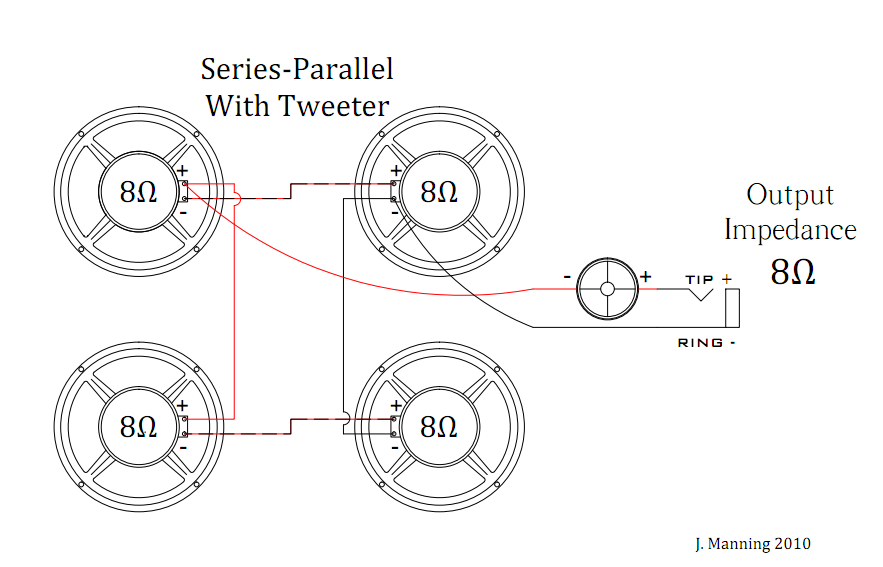 series parallel with tweeter1 wiring your speaker cabinet mojo shout speaker cabinet wiring diagrams at gsmx.co